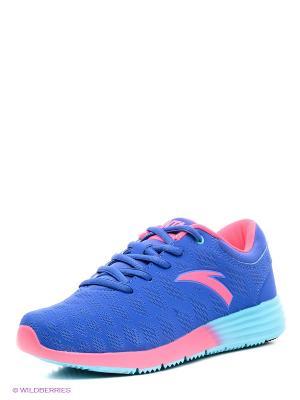 Кроссовки ANTA. Цвет: синий, розовый