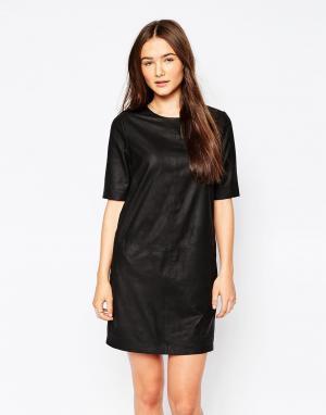 Muubaa Кожаное платье Montesson. Цвет: черный