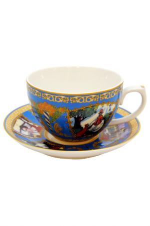 Чашка с блюдцем А.С.Пушкина Федерация. Цвет: мультиколор