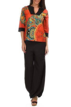 Блуза Aller Simplement. Цвет: мультицвет
