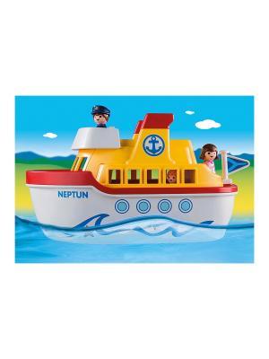 Мой корабль, с ручкой для переноски 1.2.3. Playmobil. Цвет: белый, желтый, красный