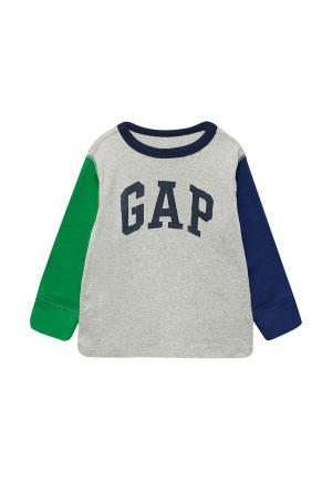 Лонгслив Gap. Цвет: серый