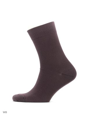 Носки классические, 3 пары HOSIERY. Цвет: темно-коричневый