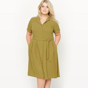 Платье-рубашка CASTALUNA. Цвет: бронзовый хаки