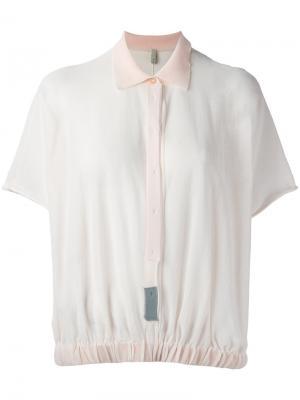 Elasticated hem blouse Boboutic. Цвет: розовый и фиолетовый