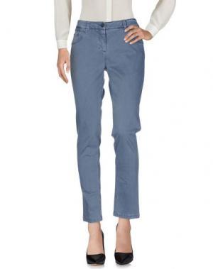 Повседневные брюки PESERICO SIGN. Цвет: грифельно-синий