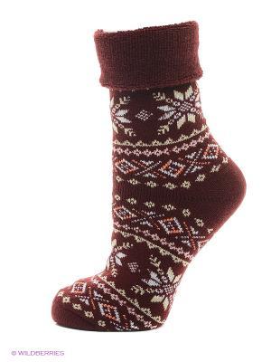 Новогодние носки HOSIERY. Цвет: бордовый