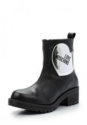 Полусапоги Love Moschino. Цвет: черный