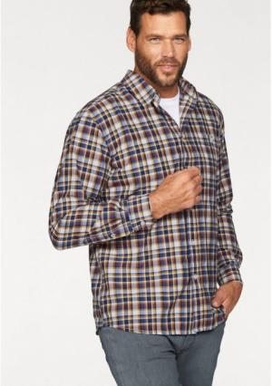 Рубашка MANS WORLD MAN'S. Цвет: синий/белый/коричневый в клетку