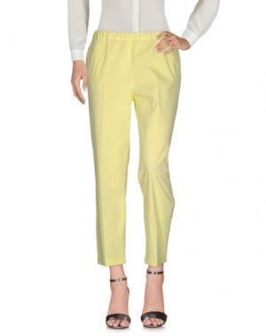 Повседневные брюки QL2 QUELLEDUE. Цвет: светло-желтый
