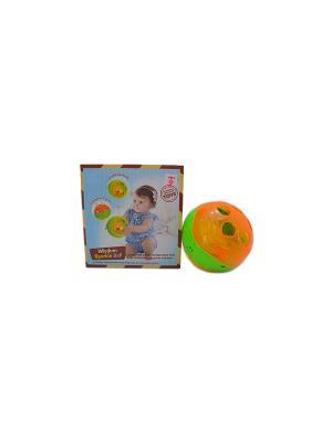 Игрушка детская Музыкальный шар-сортер HUILE. Цвет: оранжевый, зеленый