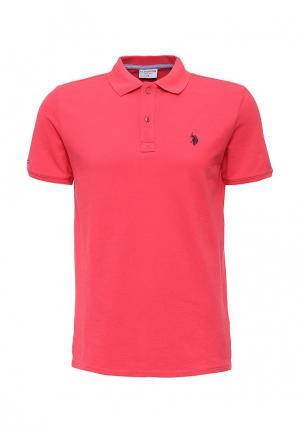 Поло U.S. Polo Assn.. Цвет: розовый