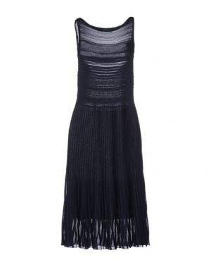 Платье до колена GENTRYPORTOFINO. Цвет: темно-синий