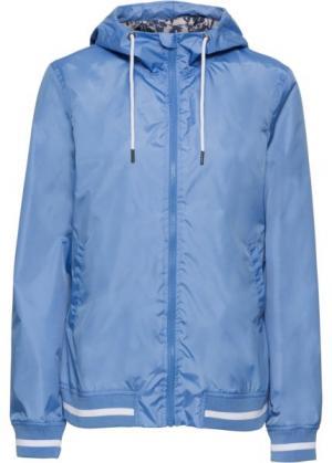 Куртка спортивная (голубой/белый) bonprix. Цвет: голубой/белый