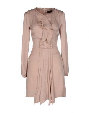 Короткое платье JO NO FUI. Цвет: пастельно-розовый