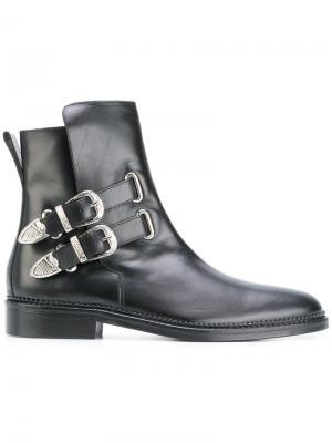 Ботинки с пряжками Toga Virilis. Цвет: чёрный