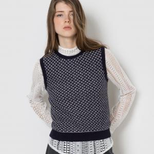 Пуловер без рукавов MADEMOISELLE R. Цвет: жакард