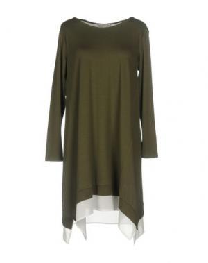 Короткое платье HOPE COLLECTION. Цвет: зеленый-милитари