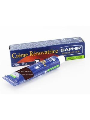 Восстановитель кожи Creme RENOVATRICE, 25 мл. (жидкая кожа)(ТЕМНО-КОРИЧНЕВЫЙ -05) Saphir. Цвет: темно-коричневый
