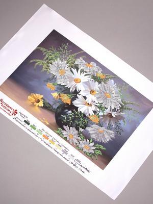 Рисунок на шелке Букет ромашек Матренин Посад. Цвет: серый