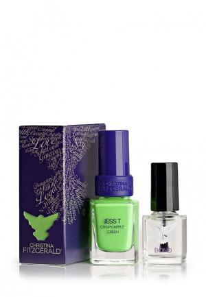 Лак для ногтей Christina Fitzgerald. Цвет: зеленый
