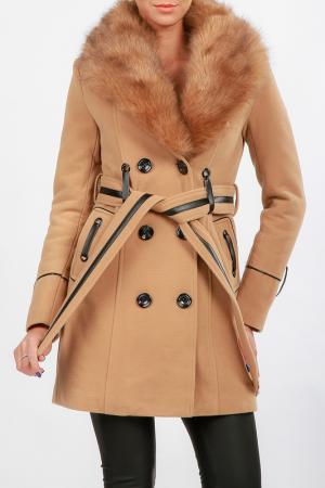 Пальто Isabel Queen. Цвет: коричневый