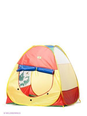 Палатка игровая Кемпинг Слоненок Наша Игрушка. Цвет: голубой, красный, белый, зеленый