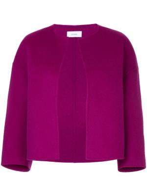 Структурированный пиджак без воротника Astraet. Цвет: розовый и фиолетовый