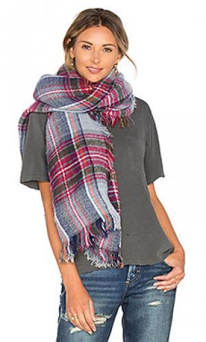 Клетчатый шарф IKKS Paris. Цвет: красный