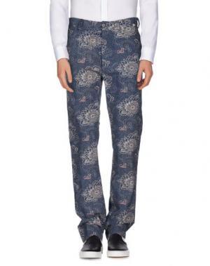 Повседневные брюки BSBEE. Цвет: темно-синий
