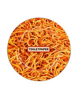 Декоративная тарелка SELETTI WEARS TOILETPAPER. Цвет: оранжевый