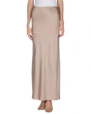 Длинная юбка GAI MATTIOLO. Цвет: бежевый