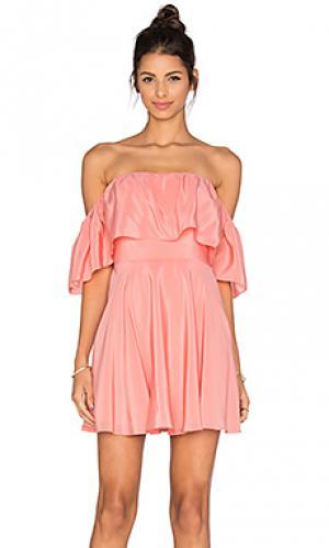 Платье delilah Amanda Uprichard. Цвет: персиковый