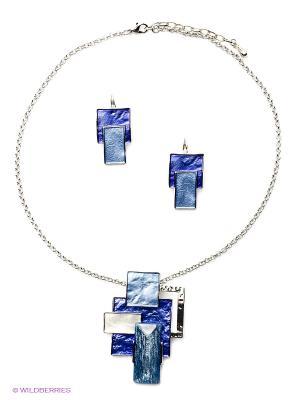 Комплект Fiore Lune. Цвет: фиолетовый, голубой