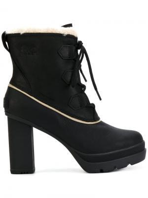 Ботинки по щиколотку Sorel. Цвет: чёрный