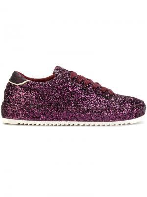 Блестящие кроссовки Philippe Model. Цвет: розовый и фиолетовый
