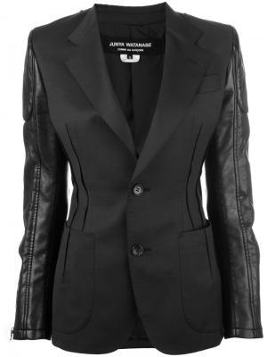Пиджак с контрастными рукавами Junya Watanabe Comme Des Garçons. Цвет: чёрный