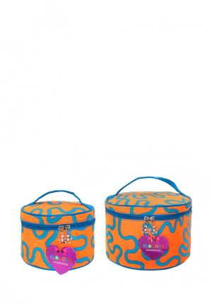 Комплект косметичек 2 шт. El Casa. Цвет: оранжевый
