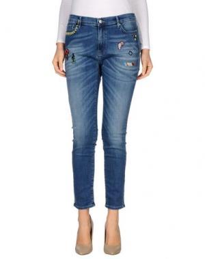Джинсовые брюки MIRA MIKATI. Цвет: синий