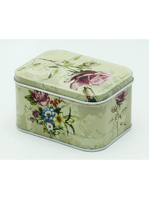 Коробка для безделушек и мелочей Лиловая роза Magic Home. Цвет: зеленый