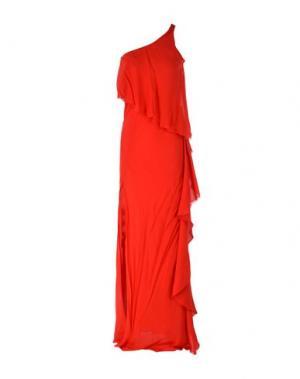 Длинное платье PATRIZIA PEPE SERA. Цвет: красный