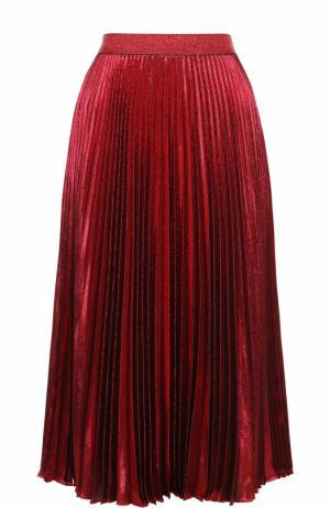 Шелковая плиссированная юбка-