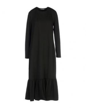Платье длиной 3/4 EUROPEAN CULTURE. Цвет: черный