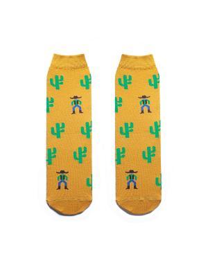 Носки Big Bang Socks. Цвет: горчичный