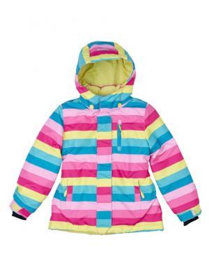 Куртка текстильная для девочек PlayToday. Цвет: розовый
