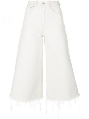 Укороченные брюки Off-White. Цвет: белый