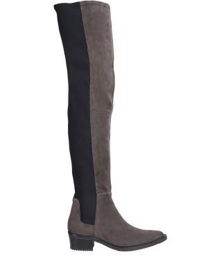 Сапоги-чулки на низком каблуке High. Цвет: разноцветный