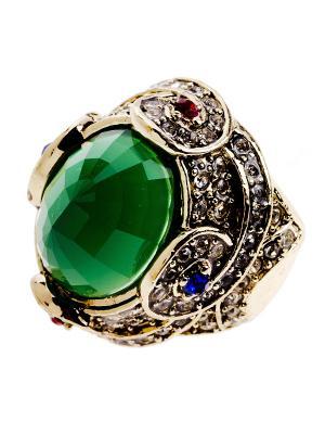Кольцо Bijoux Land. Цвет: зеленый