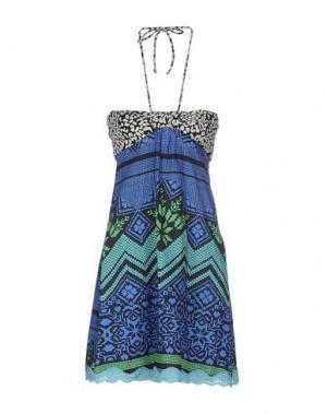 Короткое платье CUSTO BARCELONA. Цвет: синий