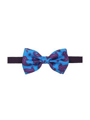 Галстук бабочка Gents Paisley Print Klein Duchamp. Цвет: темно-синий, лазурный, сиреневый, фиолетовый, фуксия